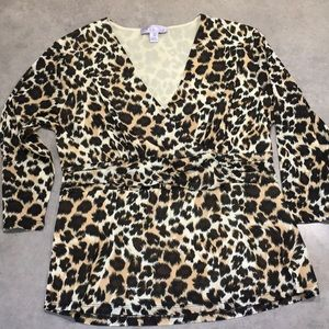 Stretchy leopard blouse